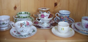 A portion of the ugly teacup collection.
