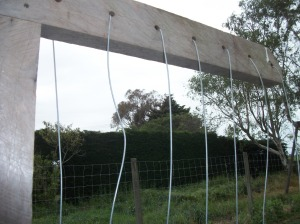 Trellis with wire