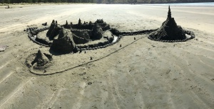 Today's massive, whole-family sandcastle effort.