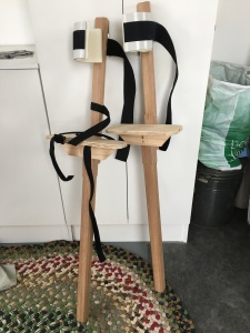 The stilts nearing completion.