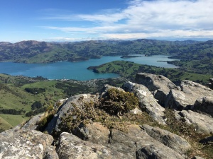 Looking toward Akaroa from Stony Bay Peak.