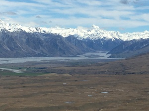 mountains and river valley